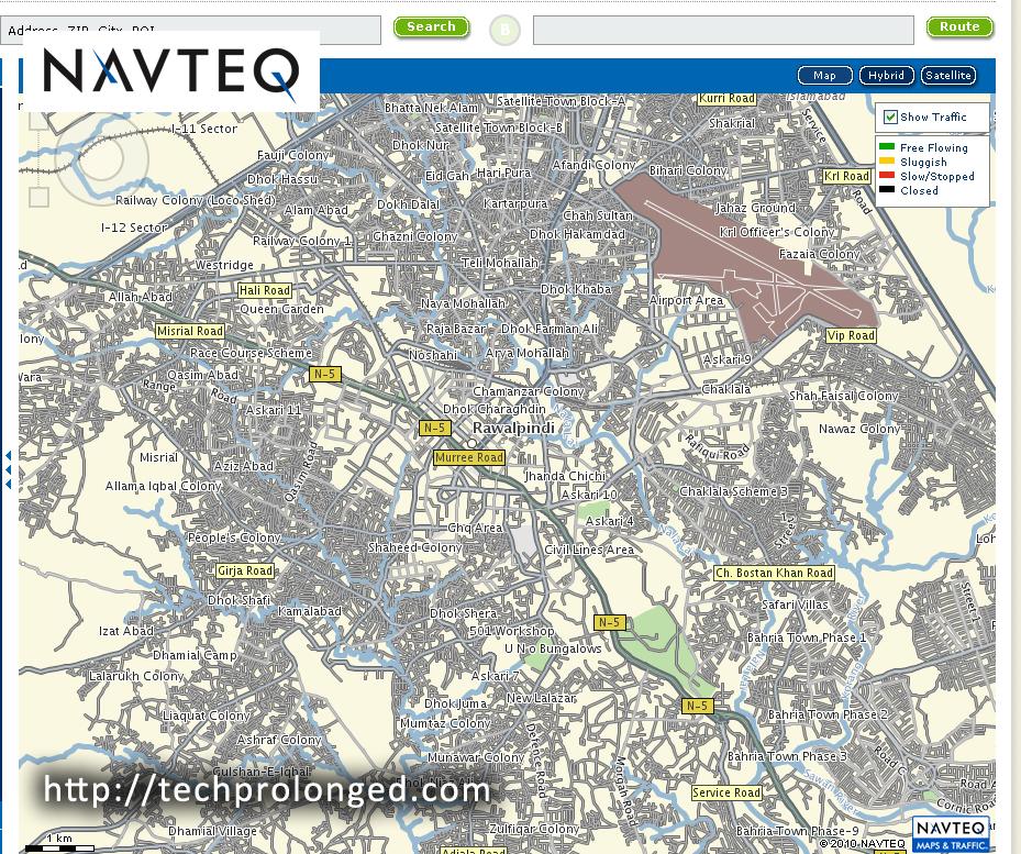 Rawalpindi Streets: NAVTEQ Showed Up Pakistan Maps In Street Detail