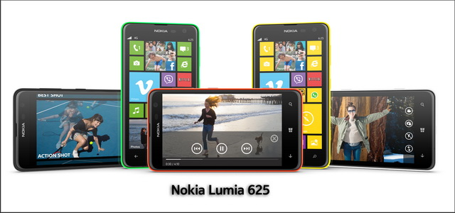 Nokia Lumia 625 Device Picture