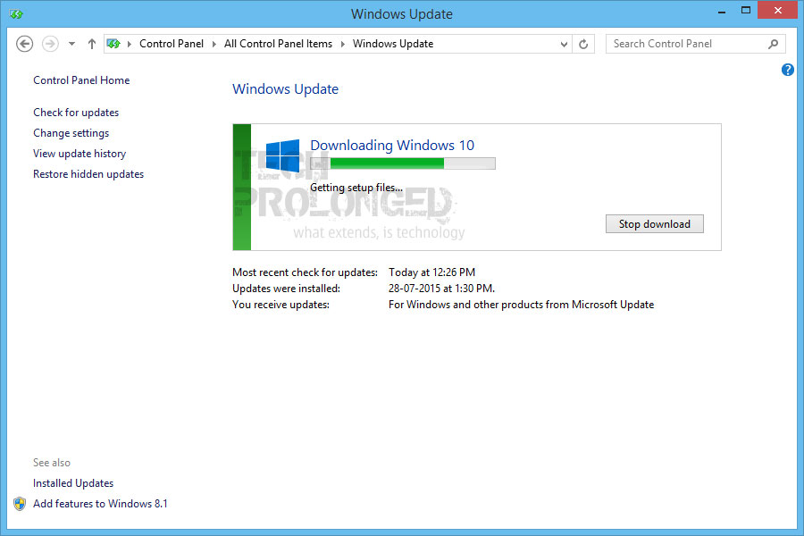 how to force download windows 10 updates