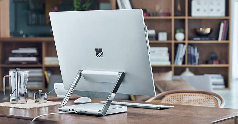 microsoft s surface studio inspired from s t a r labs in the flash tv series tech prolonged. Black Bedroom Furniture Sets. Home Design Ideas