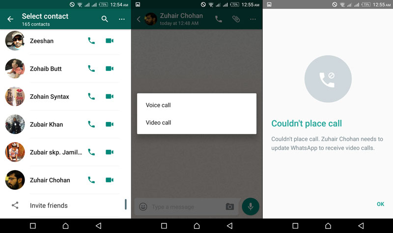 how to block whatsapp video call only