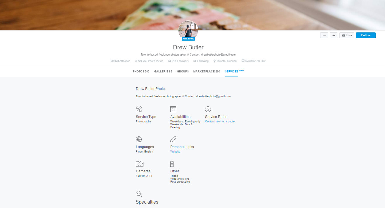 500px Directory Services Tab