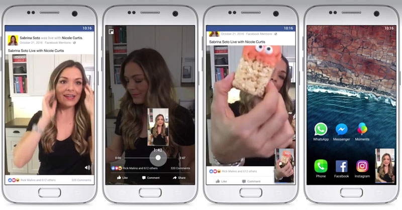 Facebook Vertical Videos Picture-in-Picture