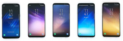 Galaxy S8 Colors - Front
