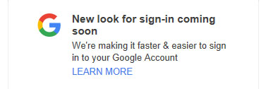 Google New Sign-in Notification