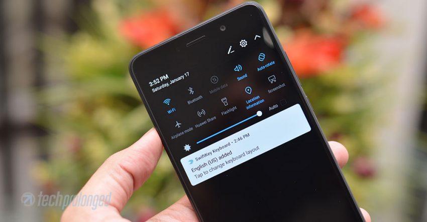 Huawei Y7 Prime - Notification Panel, EMUI 5