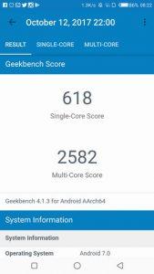 Camon CX Benchmark - Geekbench