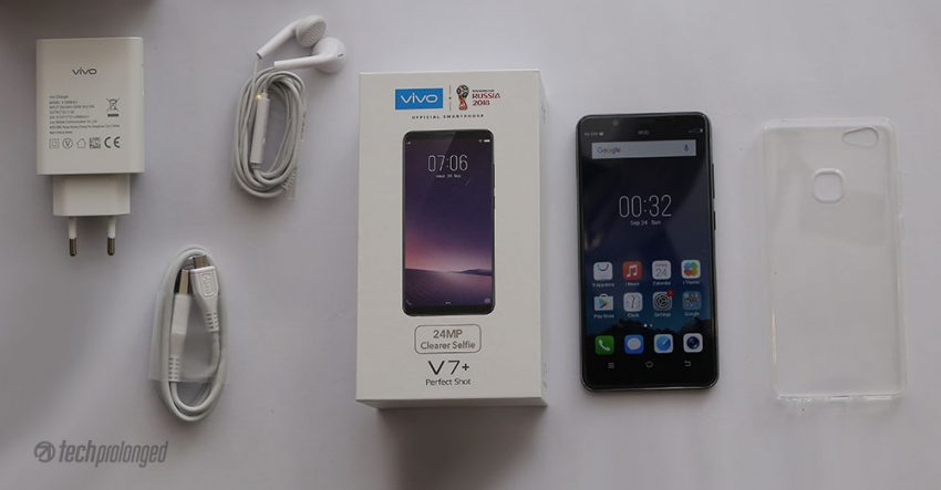 Vivo V7+ Unboxing Retail Box Content