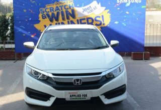Honda Civic awarded for Galaxy J Series