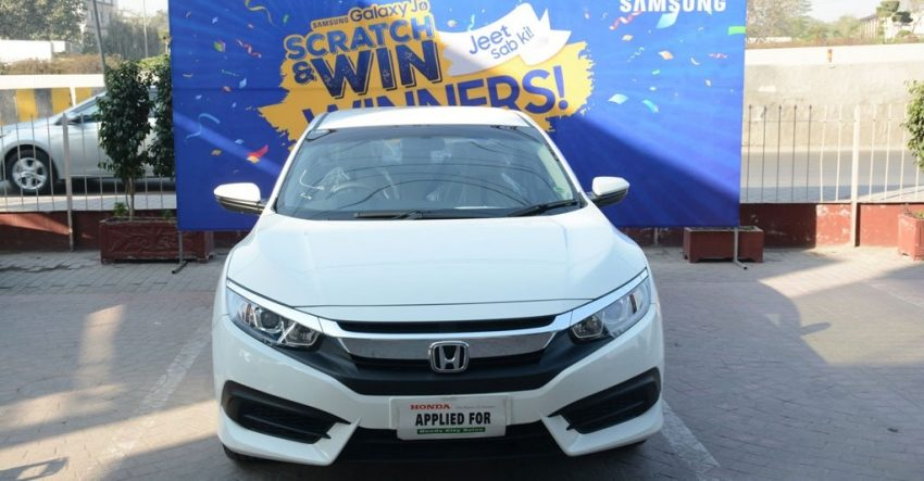 Samsung gives Honda Civic to winner of prize offer on J-Series Mobile phones - Tech Prolonged