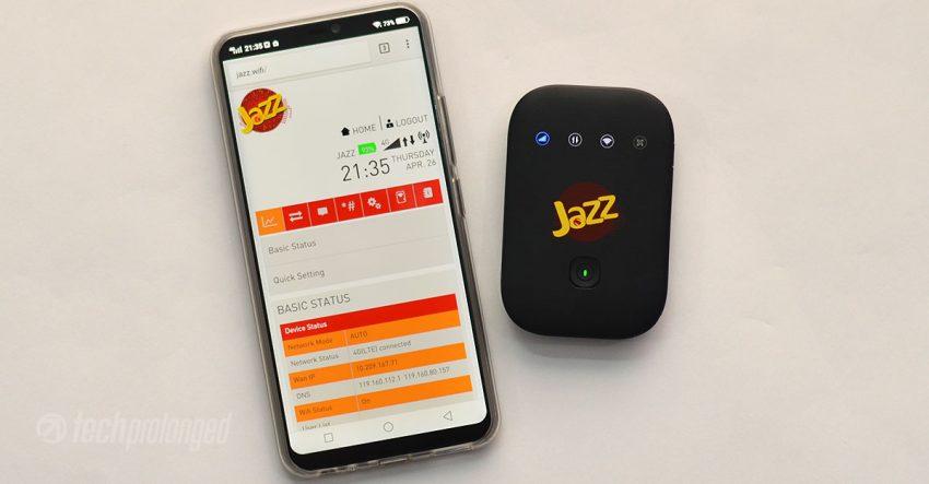 Jazz Super 4G WiFi Management