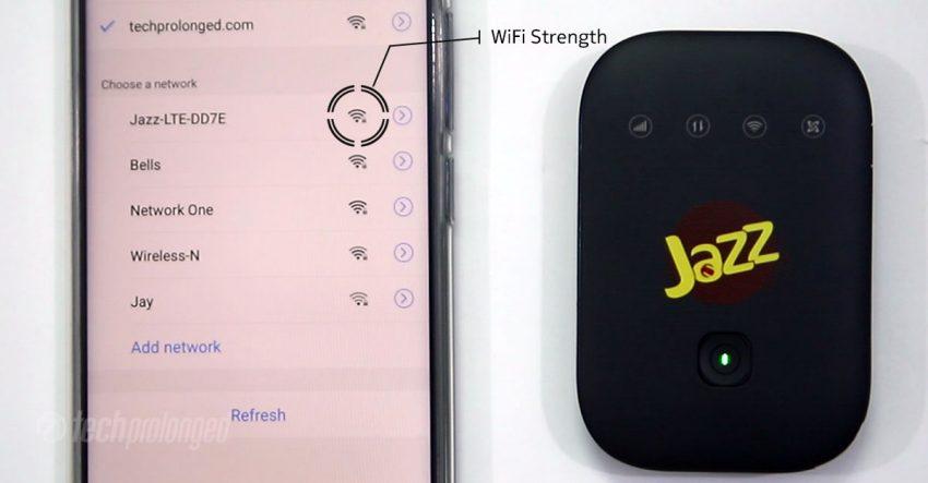 Jazz Super 4G WiFi Signal Strength
