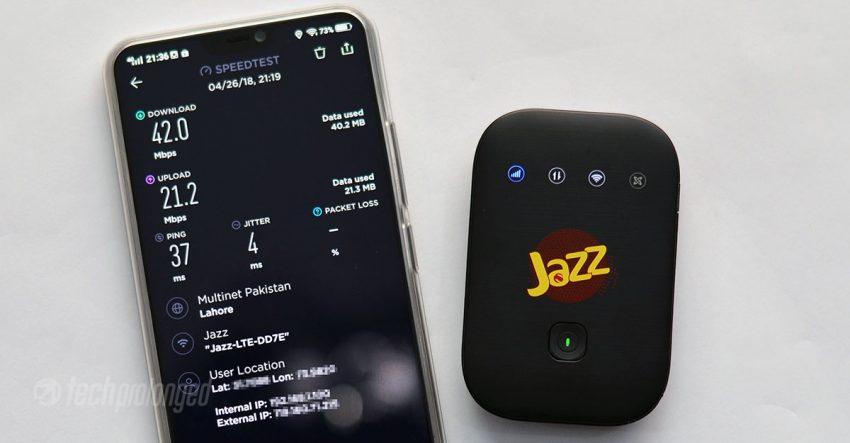 Jazz Super 4G WiFi Speed