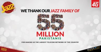 Jazz 55 Million Subscribers Pakistan