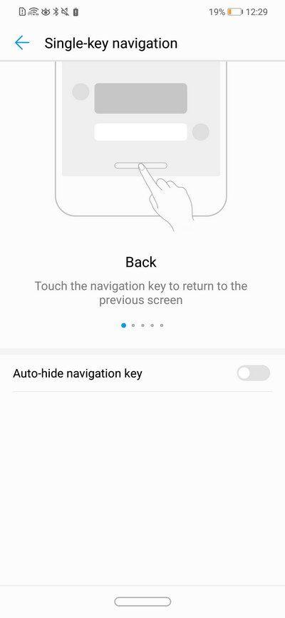 Huawei Nova 3i - Single-key Navigation