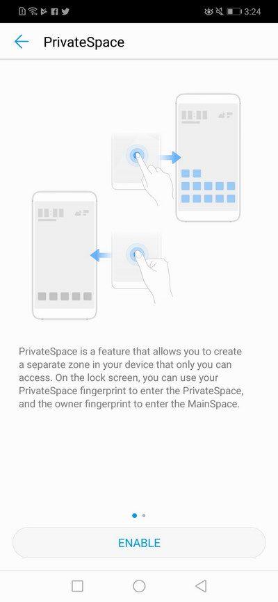 Huawei Nova 3i - Private Space