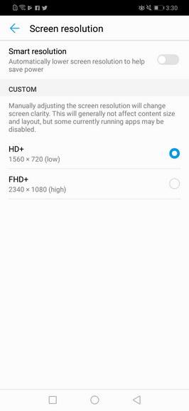 Huawei Nova 3i - Smart Screen Resolution