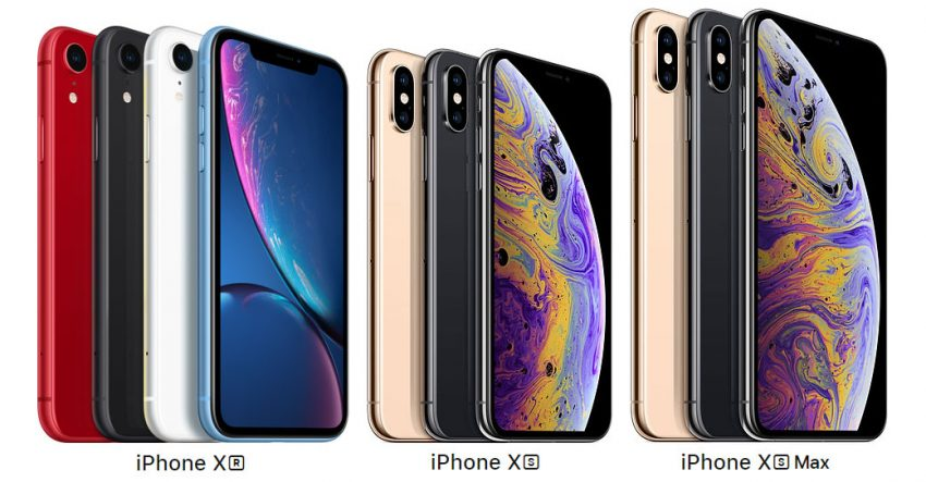 iPhone XR, iPhone XS, iPhone XS Max