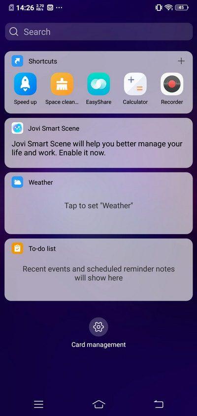 Vivo V11 Review Software
