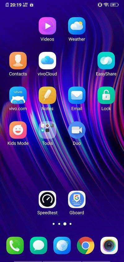 Vivo V11 Review Software - Gesture Navigation