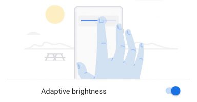 Android Pie Adaptive Brightness